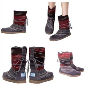 Toms nepal grey woven boots